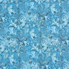 Liberty Tana Lawn Cotton Fabric Wild At Heart Blue 136cm - LIBERTY Tana Lawn Fabric - LIBERTY Art Fabrics - Fabric