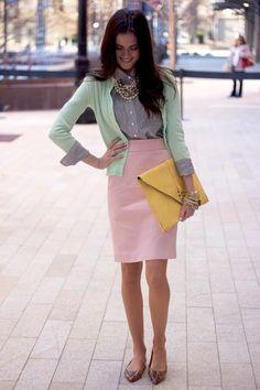 I want pretty: LOOK- Falda Lápiz/ Pencil Skirt Outfits