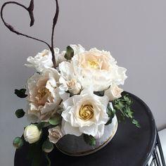 Sugar Bouquet | Wedding Cake flowers - sugar peony and rose