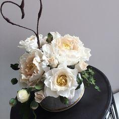 Sugar Bouquet | Wedding Cake flowers - sugar peony and rose