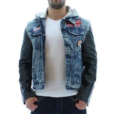 Leather Denim Style Jacket