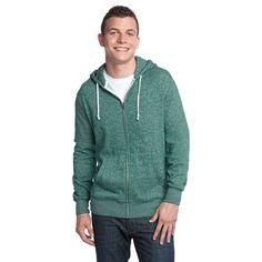 Marled Fleece Full-Zip Hoodie DT192 – District Clothing Online Store
