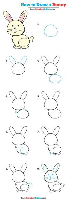 Learn to draw: Easy step by step drawing tutorials for kids and . - Learn to Draw: Easy Step by Step Drawing Tutorials for Children and Beginners L … – Learn How t - Drawing Tutorials For Kids, Easy Drawings For Kids, Drawing For Beginners, Drawing For Kids, Art For Kids, Easy Bunny Drawing, Draw Animals For Kids, Easy Animal Drawings, Art Tutorials
