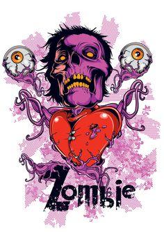 zombie poster brains 24x36 tavares pop art hungry zombies