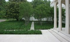 Philip Johnson's Monumental Beck House - landscape design by Reed Hilderbrand