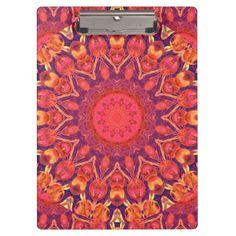 Sunburst, Abstract Mandala Star Circle Dance Clipboards #DianeClancy