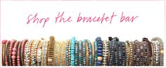 Who doesn't love a bracelet bar? This one via Calypso St. Barth.