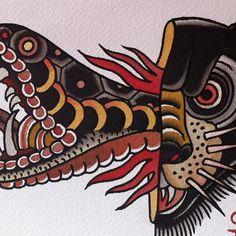 Photo by denotattoo Circus Tattoo, Skin Drawing, Tattoo Illustration, Tattoo Flash, Traditional Tattoo, Tigger, Tatting, Body Art, Madrid