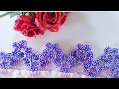 Crochet Boarders, Crochet Edging Patterns, Crochet Lace Edging, Crochet Chart, Crochet Designs, Crochet Flowers, Crochet Shell Stitch, Crochet Collar, Crochet Stitches