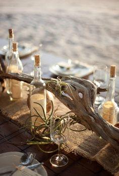 Tablescape by Comfort Studio/Four Winds Weddings & Events via 100 Layer Cake | Beach Wedding Table Decor | SouthBound Bride #beachwedding