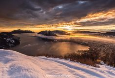 🇨🇭 Sunset over Lake Lugano (Switzerland) by Alfredo Costanzo 🌅❄️ Lugano, Landscape Photography, Nature Photography, Travel Photography, White Cloak, New Song Download, Facebook Photos, Photos Of The Week, Winter Time
