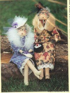 Копилка рукодельных идей и мк: модные старушки