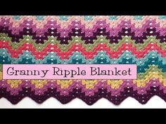 Crochet for Knitters - Granny Ripple Blanket - v e r y p i n k . c o m - knitting patterns and video tutorials