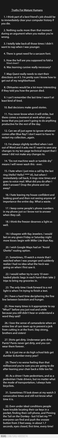 Truths For Mature Adults