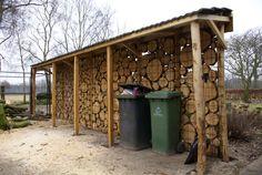 schutting muur met hout erop - Google zoeken