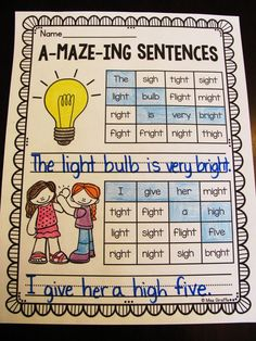 Really fun phonics worksheets!! This pack focuses on IGH and IE but there are ones for every phonics sound!
