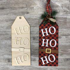 1 Unfinished Wooden Santa Tag includes door tag ho ho ho | Etsy Santa Crafts, Christmas Wood Crafts, Farmhouse Christmas Decor, Christmas Signs, Christmas Ornaments, Diy Christmas Tags, Christmas Ideas, Christmas Yard, Diy Ornaments
