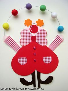 Clown tinker with children on carnival - templates, ideas and instructions .