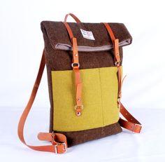 Tweed Rucksack // Tweed backpack by Breaha via DaWanda.com