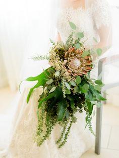 Rustic flower and eucalyptus wedding bouquet: http://www.stylemepretty.com/2017/01/02/historical-key-west-wedding/ Photography: Care Studios - http://careweddings.com/