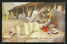 Taiyaru-Tribe-putting-Tattoo-on-Face-Formosa-Taiwan-1934