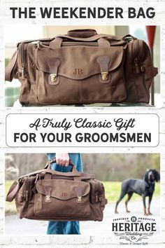 The Personalized Military Style Weekend Travel Duffel Bag is the perfect groomsmen gift! This bag is ideal for any weekend getaway (did someone say bachelor party?).