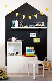 Mini kitchen, big blackboard wall