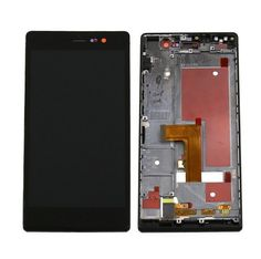 For Huawei Ascend P7 LCD & Touch Screen Assembly With Frame Replacement- Black @ http://www.ogodeal.com/for-huawei-ascend-p7-lcd-digitizer-touch-screen-assembly-with-frame-black.html