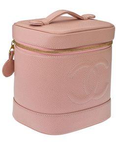 Chanel Pink Caviar Leather Vanity Bag.
