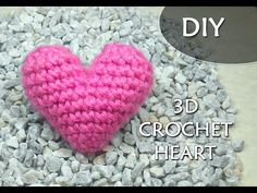 How to Crochet a 3D or PUFFY Crochet Heart | Video tutorial | PATRONES VALHALLA // Free Crochet Patterns