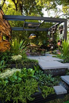 Melbourne Landscape Design - Melbourne Garden Show 2013 pergola Outdoor Rooms, Outdoor Gardens, Outdoor Living, Outdoor Retreat, Outdoor Baths, Backyard Retreat, Indoor Outdoor, Outdoor Decor, Small Backyard Landscaping