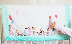 """Blanket by Miathilde with minky polar and Michael Miller cotton """"Parada""""."""