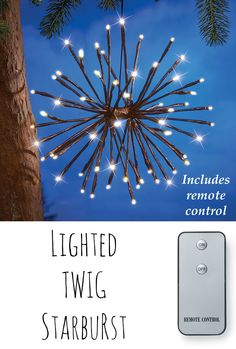 Set your home aglow with these dazzling Lighted Twig Starbursts. Use more than one for an enchanting light show in your front yard.