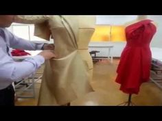 Combined Jacket , Free style draping, Design No 2 - YouTube
