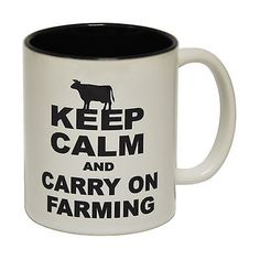 Keep calm carry on #farming farmer tractor #humour #funny mug valentines day gift,  View more on the LINK: http://www.zeppy.io/product/gb/2/112080024633/