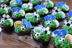 Chocolate Soccer Cupcakes
