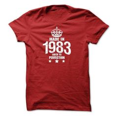 Made in 1983 Aged To Perfection T-Shirt and Hoodie - #raglan tee #hoodie novios. ADD TO CART => https://www.sunfrog.com/Birth-Years/Made-in-1983-Aged-To-Perfection-T-Shirt-and-Hoodie.html?68278