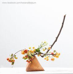 Autumn ikebana arrangement  Ikebana: Ilse Beunen Photography: Ben Huybrechts  #ikebana #sogetsu