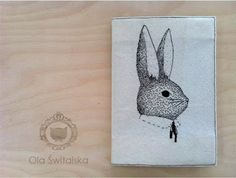 mr rabbit embroidered cover