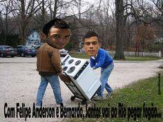 Santos vai ao Rio com Felipe e Bernardo, pegar fogão...