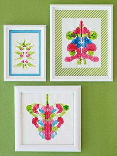 Have fun making ink-blot prints. So much fun they'll want to make them over and over!