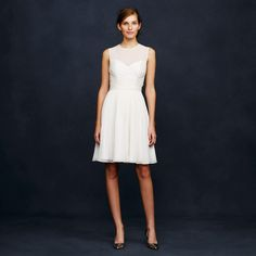 Silk chiffon short wedding dress from JCrew under $500