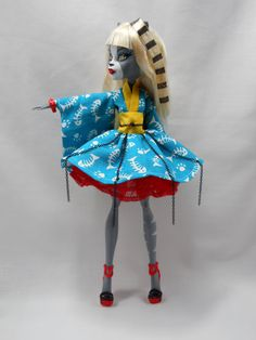 GHOST KIMONO any color Monster High ensemble by LovelyWoods