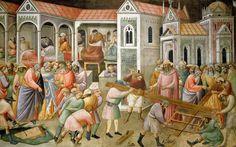 Фреска на евангельский сюжет. Таддео Гадди. XIV век.