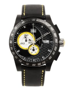Louis Chevrolet® Men's 12500 Watch in Black/Yellow #designerstudiostore