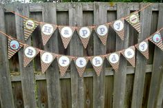 S'more Party Printable Birthday Banner.