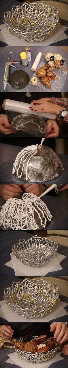 DIY Liquid Adhesive Bowl
