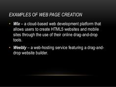 what is Wix and weeby in ICT - Google Search Cloud Based, Website, Google Search