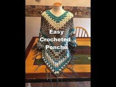 Crochet Poncho Patterns Free These free crochet poncho patterns all stand out from the pack. They're various in colour, sew, shaping and magnificence. Nonetheless, all of them emb. Crochet Pillow Patterns Free, Poncho Knitting Patterns, Crochet Mandala Pattern, Crochet Flower Patterns, Basic Crochet Stitches, Crochet Basics, Free Crochet, Knitting Ideas, Poncho Au Crochet