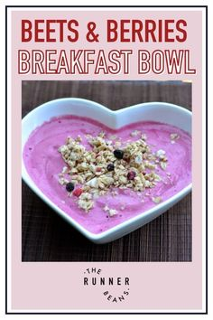 Packed with delicious antioxidants, this berry & beetroot smoothie bowl is the real deal! Plus - the color is so vibrantly red, this smoothie makes a fantastic breakfast or dessert. This berrylicious smoothie bowl is super easy-to-make and perfect for a simple healthy breakfast. Click to read the recipe! Healthy Food Habits, Healthy Living Recipes, Good Healthy Snacks, Healthy Diet Recipes, Healthy Recipes For Weight Loss, Healthy Breakfast Recipes, Food Goals, Breakfast Bowls, Dessert Bars